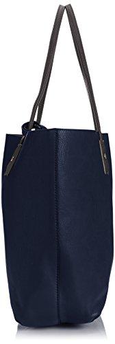 Tiny Love - Nina Large Reversible Tote Handbag, Borsa  da donna, blu(navy blue/grey), taglia unica