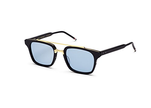 Sunglasses THOM BROWNE TB 803 C-NVY-GLD Shiny Navy18k Gold w/Dark - Browne Thom Sunglasses