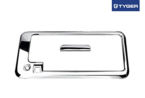 Tyger Auto Fit 03-15 Chevy Express/GMC Savana Van Chrome ABS Tailgate Cover With Keyhole And Camera Hole