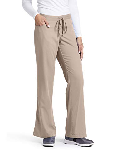 Grey's Anatomy Women's Junior-Fit Five-Pocket Drawstring Scrub Pant - XX-Large - New Khaki