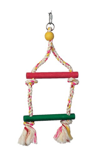 Junglewood 2-Step Rope Ladder, Small, 6 Inches x 14 Inches