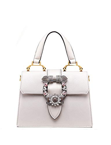 Handbag Purse Jeweled - LA'FESTIN Ladies Cute Bags Dazzling Jewels Shoulder Chain Purse Leather