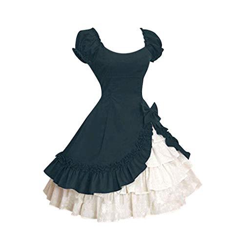 Lolita Dresses Women Girls Victorian Bowknot Ruffle Mini