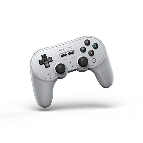 8Bitdo Pro 2 Bluetooth Controller for Switch, PC, macOS, Android, Steam & Raspberry Pi (Gray Edition) - Nintendo Switch