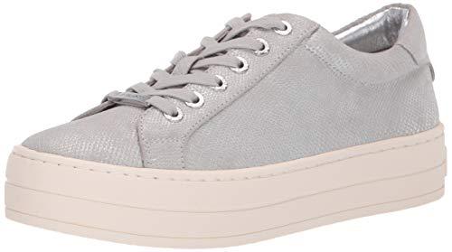 J Slides Women's Hippie Shoe, Silver Mini LUX, 8 Medium US