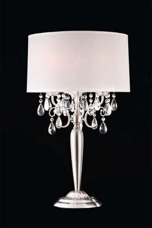 Shining Crystal Silver Table Lamp ADSok-50109t