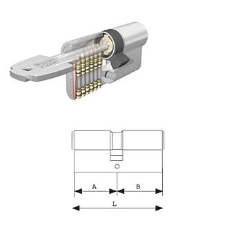 Tesa Assa Abloy 3010110 - Cilindro Seguridad T60 /40x40 Latonado.: Amazon.es: Bricolaje y herramientas