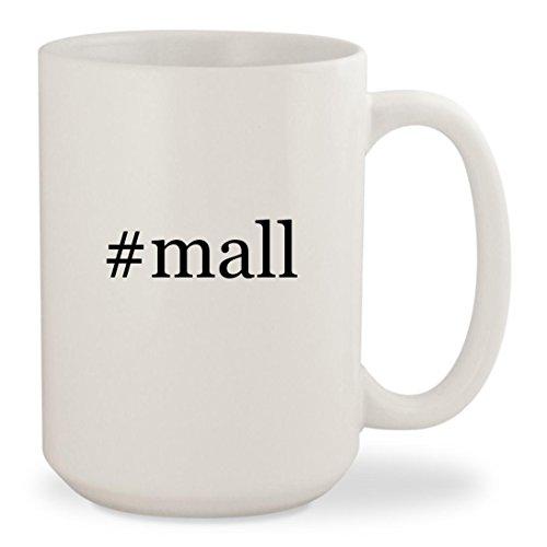 #mall - White Hashtag 15oz Ceramic Coffee Mug - Malls Tanger