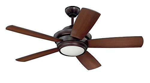 """Craftmade TMP44OB5, Tempo Oiled Bronze 44"""" Ceiling Fan with"""