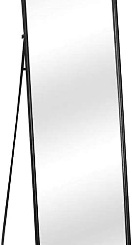 Aveland time Modern Black Full Length Dressing Floor Mirror with Free Stand Home