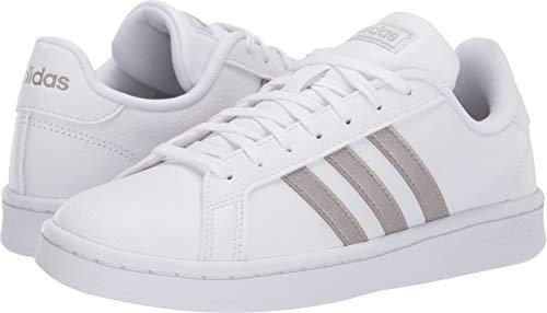 new arrivals f7339 be206 adidas Women s Grand Court, Platino Metallic White, 5 M US