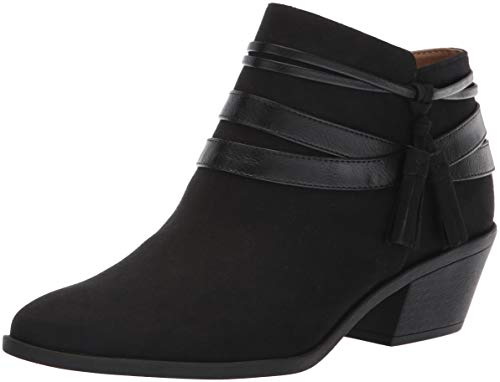 LifeStride Women's PALOMA Ankle Boot, Black, 8.5 W US