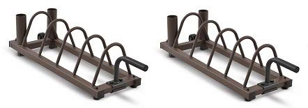 Steelbody Horizontal Plate and Olympic Bar Rack Organizer with Steel Frame and Transport Wheels STB-0130 (2-(Pack))