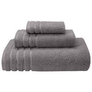 Colección italiana bestdeal 100% algodón egipcio 8 pc conjunto toalla de mano, color gris