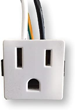 3 Wire 2 Pole Snap-In Convenience Outlet 15Amps 125V