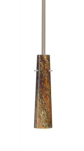 - Besa Lighting 1TT-5674CE-SN 1X50W E12 Camino Pendant with Ceylon Glass, Satin Nickel Finish