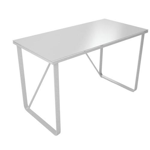 Mesa de escritorio modelo farben cristal blanco y estructura ...
