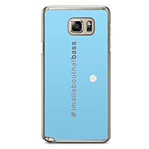 Designer iPhone Samsung Note 5 Tranparent Edge Case - All about the Bass