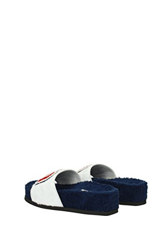 Slippers Miu UK 5XX296SPUGNA White and Women Clogs Miu Fabric fqqpwUZ
