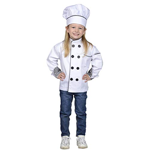 Aeromax Junior Chef Kitchen Costume, White, Small