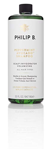 PHILIP B Volumizing and Clarifying Shampoo, Peppermint/Avocado, 32 Fl Oz ()