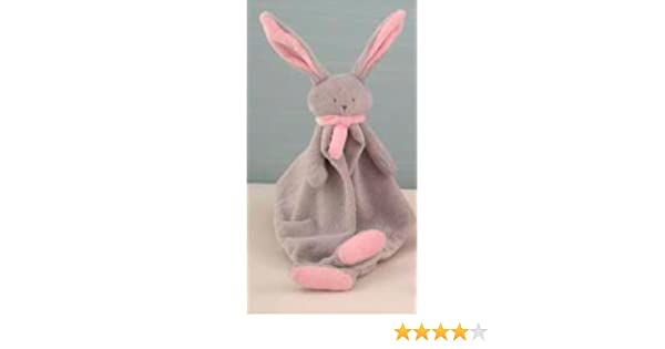 Amazon.com: NINA Doudou, the Bunny Blanket, 12 Inch, Grey & Pink: Toys & Games