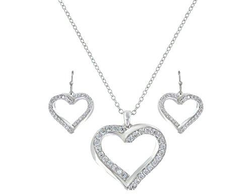 Montana Silversmiths Women's Bright Hearts Entwined Jewelry Set Silver One Size (Montana Silversmiths Jewelry Set)