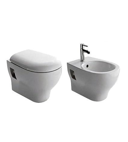 Sanitari bagno vaso wc water sospeso con bidet,compreso di coprivaso ...