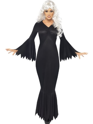 Fancy Dress To Impress Women's Fancy s to Impress Female Halloween Fancy Midnight Vamp Costumes Large (UK 16-18) Black]()