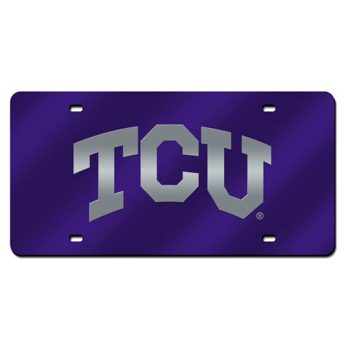 Texas Christian Horned Frogs NCAA Laser Cut License Plate Cover (Furniture Florida Industries)