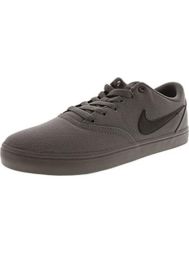 - Nike Men's Sb Check Solar Dark Grey/Black Ankle-High Leather Skateboarding Shoe - 7.5M