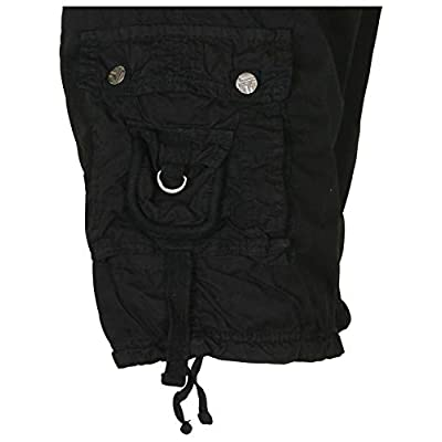 9 Crowns Men's Military Belted Cargo Shorts | Amazon.com