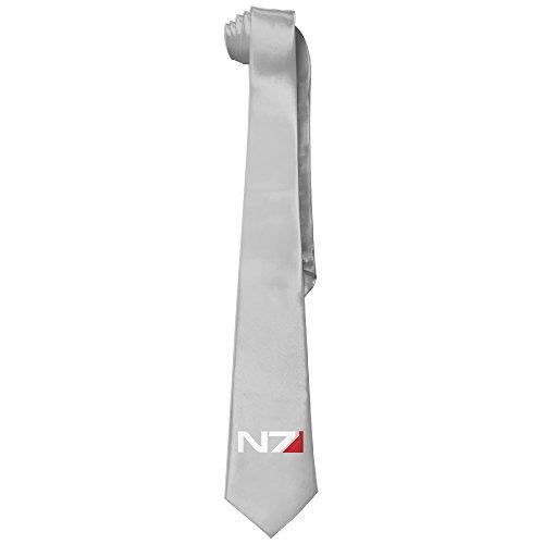 Ggift Mass Effect N7 Men's Fashion Business Solid Necktie (Game Of Thrones Mountain Costume)