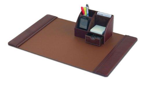 Dacasso Mocha Leather Desk Set with Organizer, 2-Piece