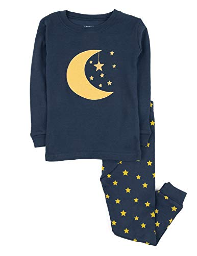 Leveret Moon & Stars 2 Piece Pajama Set 100% Cotton 8 -