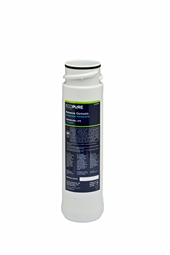 EcoPure ECOROM Reverse Osmosis Under Sink Replacement Water Membrane | NSF Certified | Fits Ecop30 System | 1-3-Year Filter Life