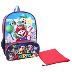 Price comparison product image Super Mario Brothers 16 Inch Backpack with Insulated Lunch Pocket
