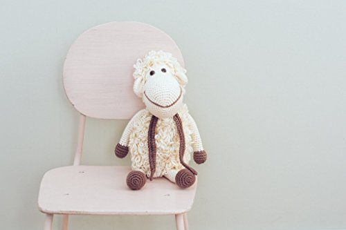 Organic Soft Baby Toys - Crocheted Sheep -Darla the Lamb by our green house