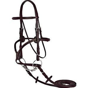 Vespucci Square Raised Figure 8 Bridle - BROWN\HORSE