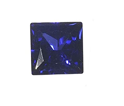 Blue Synthetic Sapphire Square Unset Gem Faceted 6mm from uGems