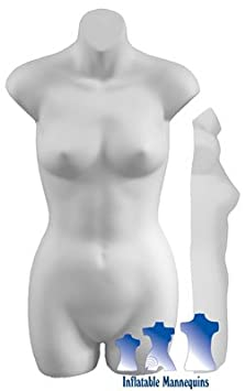 Female 3//4 Form White or Fleshtone Black Hard Plastic