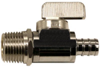 Watts PEX LFP-561 Straight Stop Valve 1/2-Inch Male Pipe x 1/2-Inch Barb Low-Lead, Chrome