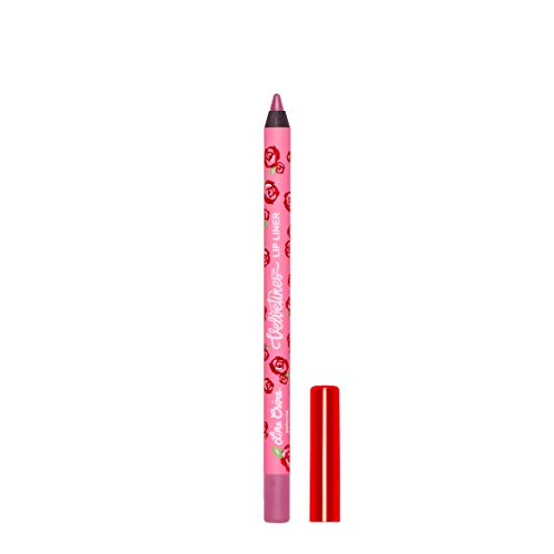 Lime Crime Velvetines Lip Liner (Petunia). Long Lasting Orchid Blush Matte Lip Lining Pencil (0.042oz / 1.20 g)
