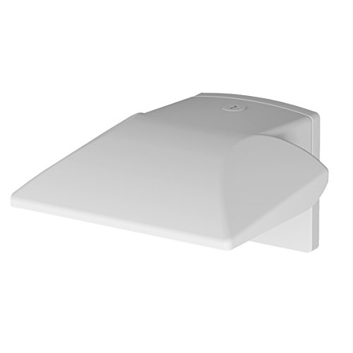 (WAC Lighting WP-LED227-50-aWT Contemporary Endurance Hawk LED Energy Star Outdoor Wall Light with 27W Cool White in Architectural White)