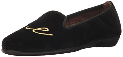 Aerosoles Women's Betunia Loafer Black Velvet Love