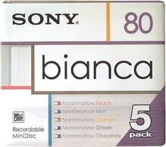 Sony Bianca 5-pack 80 Min. MiniDiscs 5MDW80BAA