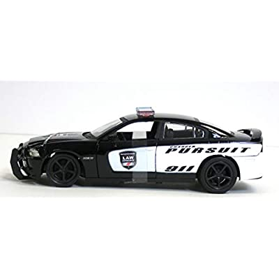 New Ray Dodge Charger Pursuit Diecast Police Car 1/24 Scale: Toys & Games