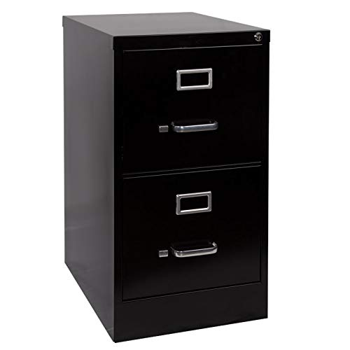 - Pemberly Row 2 Drawer Letter File Cabinet in Black