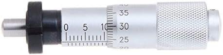WEI-LUONG tools Silver Range 0-13mm Round Needle Type Measure Tool Knurled Adjustment Knob Micrometer Head Measurement Micrometer