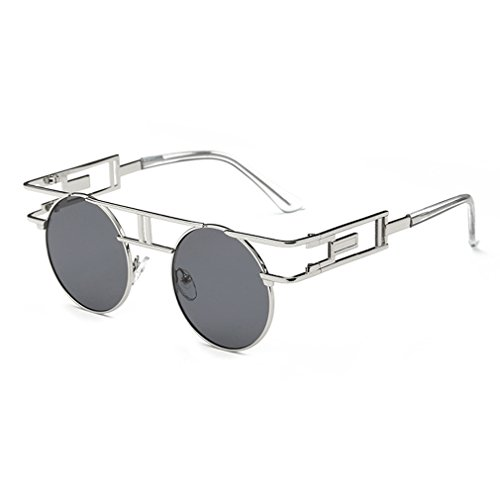 G&T Retro Vintage Style Gothic Steampunk Metal Frame UV Reflective - Existing Buying Lenses Frames For